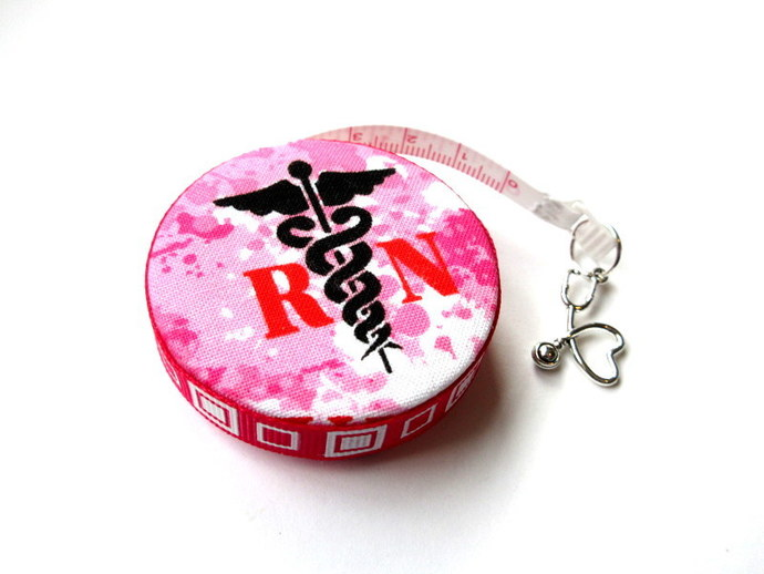 Tape Measure Medical Theme Nurses Small Retractable Measuring Tape