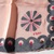 Vera Neumann Pink And Gray With Pinwheel Shaped Fireworks Design With Sequins