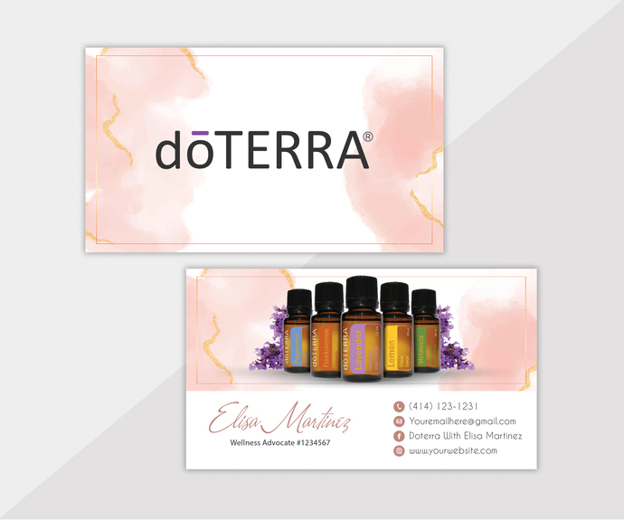 Personalized Doterra Business Card, Essential Oil Business Card, Essential Oil