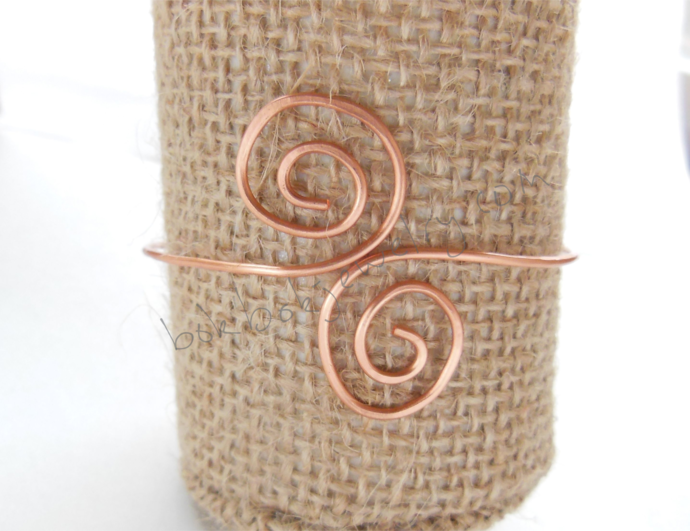Handmade Copper Wire Swirly Cuff Bracelet