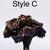 Handmade Dark Deep Purple and Rose Gold Roses One Dozen Natural Leaf Roses that