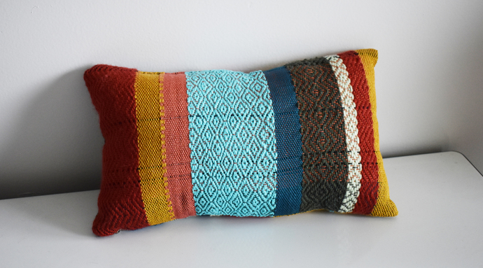 Double-Sided Handwoven Throw Pillow