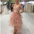 Chic A-line Pink Tulle Lace Applique Straps Short Prom Dress Simple Homecoming
