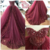 Boned Sweetheart Bridal Dresses with Luxury Crystal,Burgundy Lace Appliques