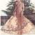 Champagne Lace Prom Dress, Sweetheart Tulle Evening Dress, Floor Length Prom