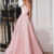 Fashion Satin Sweetheart Neckline A-line Prom Dresses With Belt & Beadings,prom