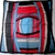 Vera Neumann Red Blue Black And White Geometric Design Scarf with Ladybug