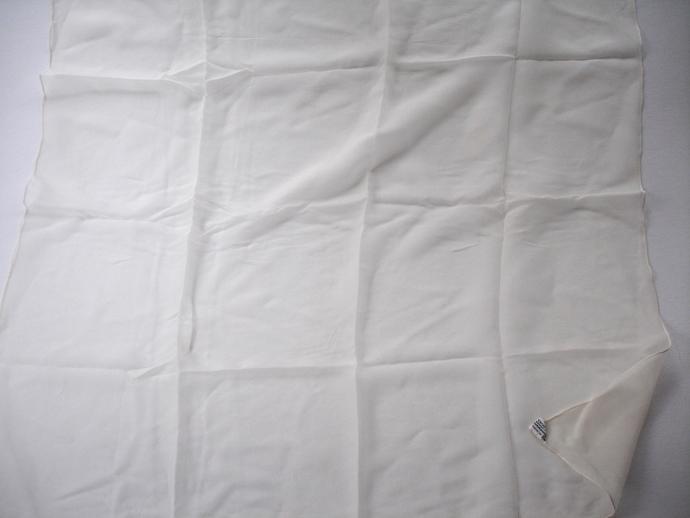 Vera Neumann Large Square Snowy White Verasheer Scarf Vintage 1960s