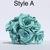 Handmade Turquoise Light Blue Roses One Dozen Natural Leaf Roses that last
