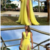Simple A-Line Deep V-Neck Long Yellow Prom Party Dress with Split,,prom