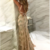 Newest Mermaid Spaghetti Straps Tulle With Sequins Long Prom Dress,,F1906