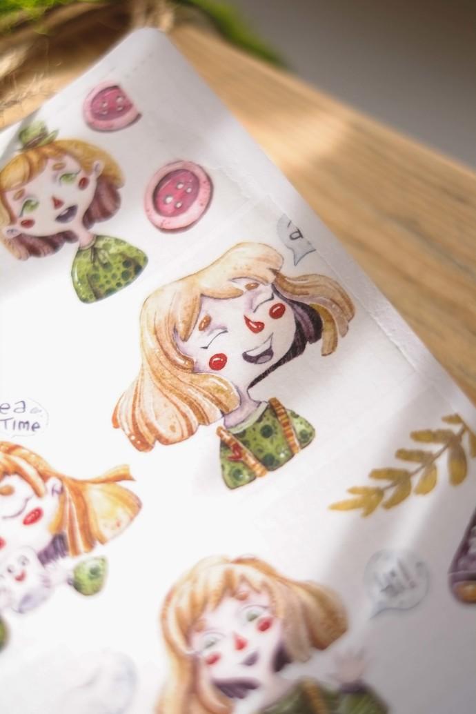 London Gifties design watercolour tape - Girls - 5cm wide Japanese washi tape