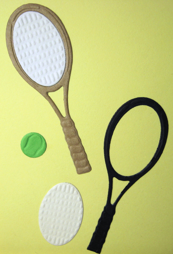Tennis Racket and Ball Cutting Die Set