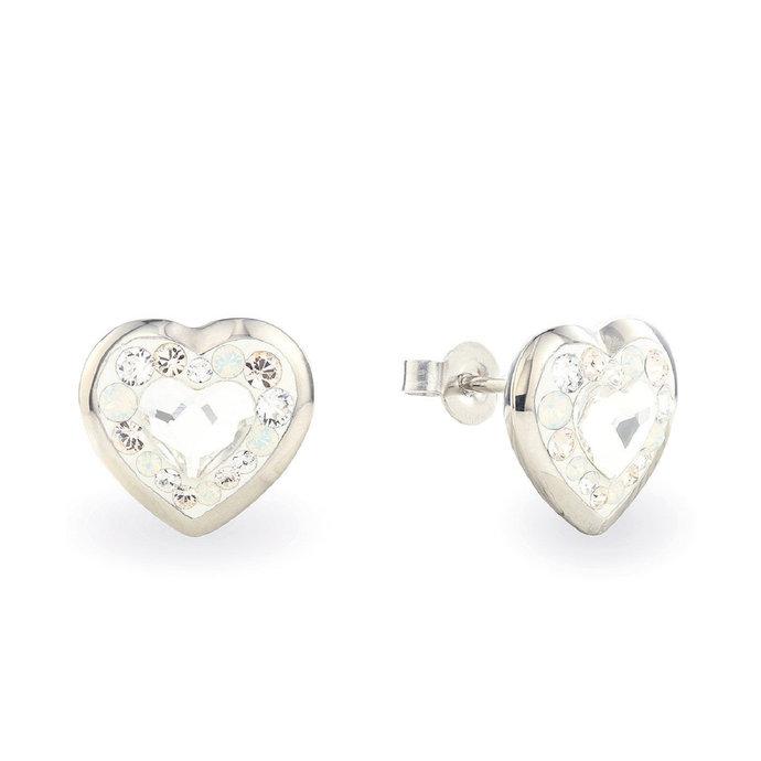 Swarovski Heart Earrings • Handmade Heart Shaped Earrings • 316L Surgical Steel