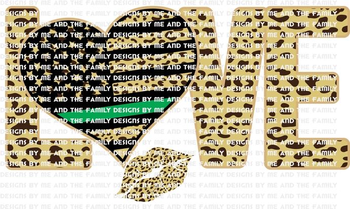 Love cheetah print green line, kiss,  represents federal agents such as Border