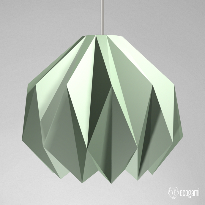 Make your own papercraft lampshade ORIGAMI II, perfect for your lighting