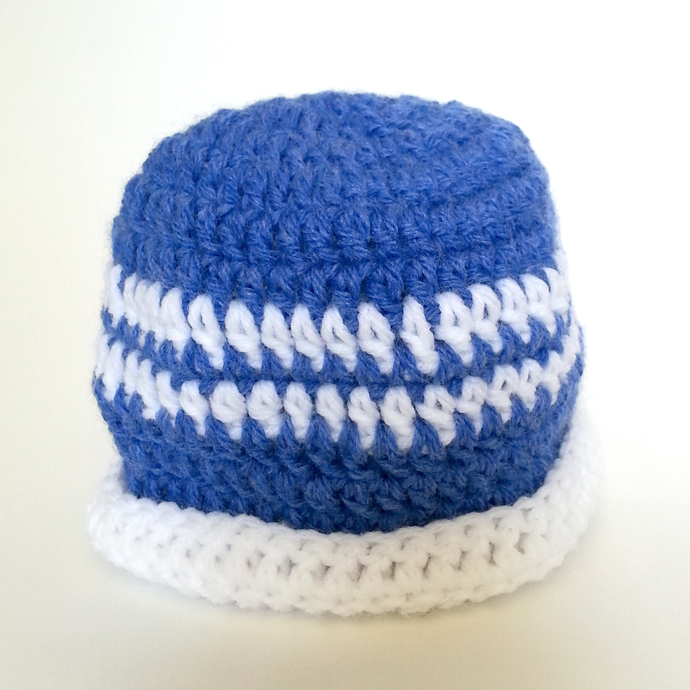 Blue White Hat and Booties set