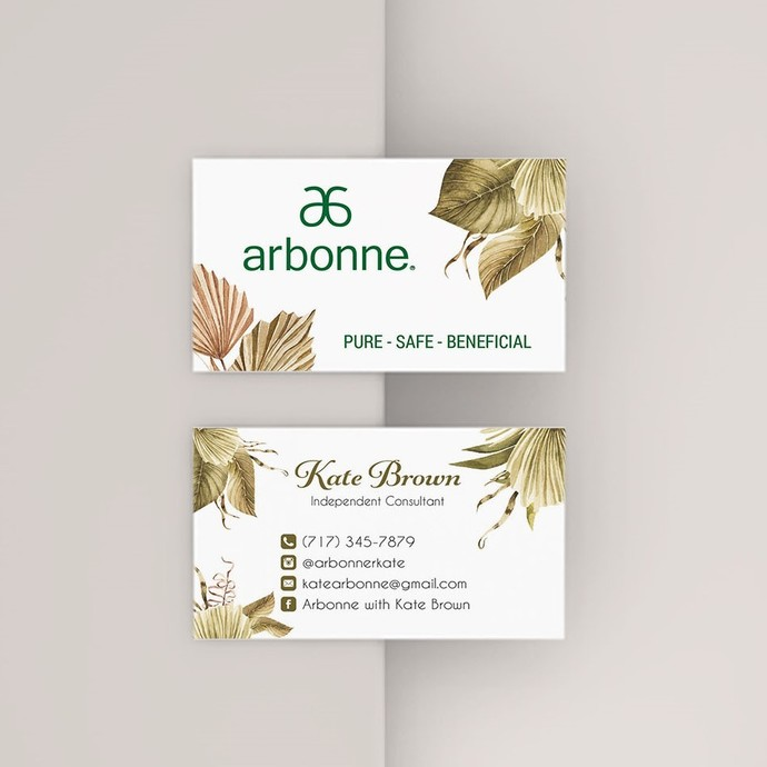 Tropical Arbonne Business Card, Personalized Arbonne business card, Arbonne AB42