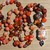 Bewitching  Orange Copper Turquoise Long beaded Necklace with Pendant  Hand knot