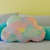 Set of 4 Pastel Rainbow Cloud Pillows