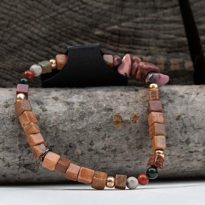 Stretch Bracelet: Tiger Limestone