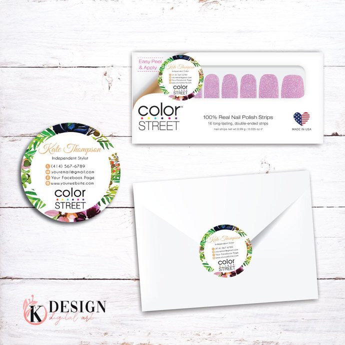 Color Street Stickers, Color Street Envelope Seals, Stickers CL02