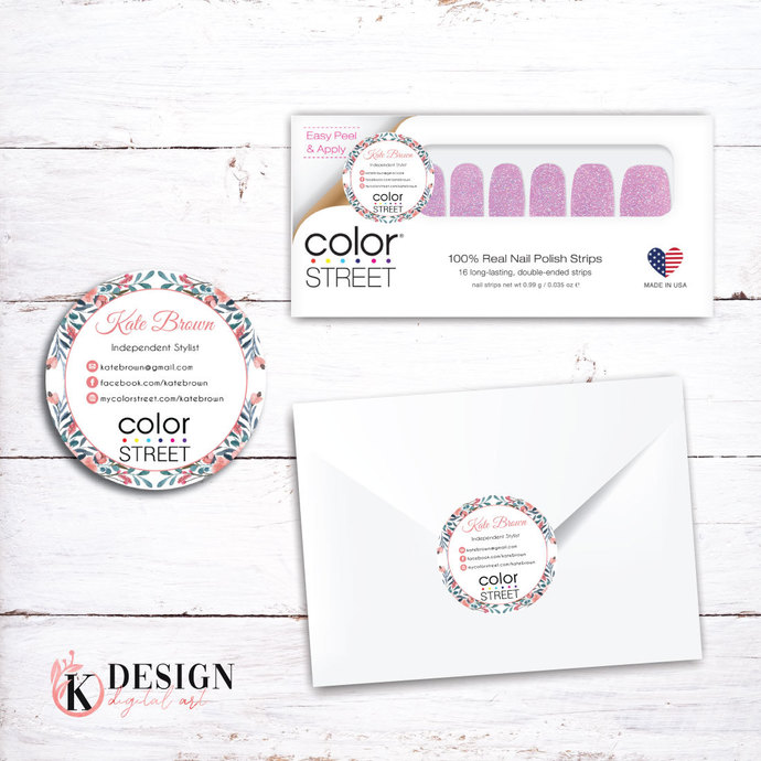 Color Street Stickers, Color Street Envelope Seals, Stickers CL06