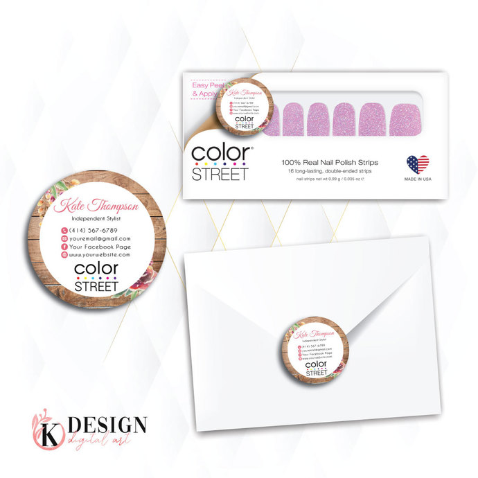 Color Street Stickers, Color Street Envelope Seals, Stickers CL07