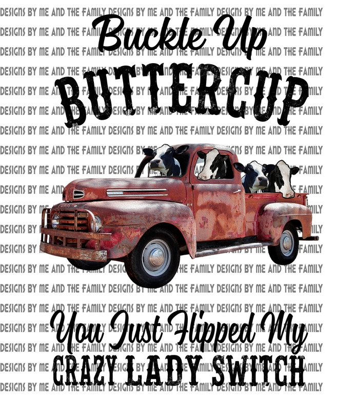 Buckle up butter cup you just hit my crazy lady cows switch, peace love cows,