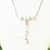White buffalo turquoise (howlite) and turquoise howlite arrow necklace, casual