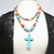 Rockabilly style necklace, bold and colorful necklace with 2 strands of howlite