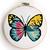 Set of 4 butterflies counted cross stitch pattern - Cross Stitch Pattern