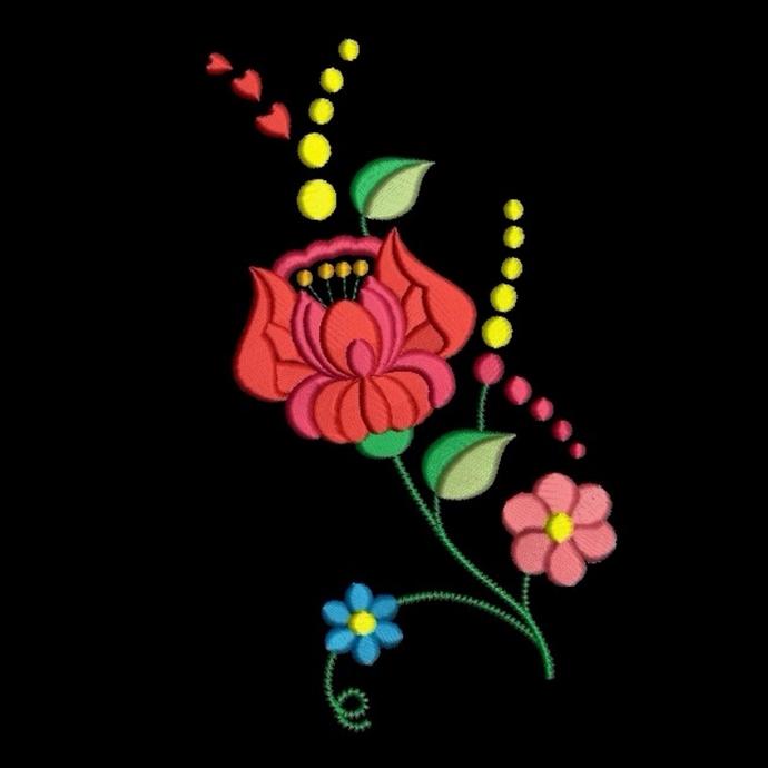 Machine Embroidery Designs Folk Flowers SET 10 items Kalocsa Matyo Pes File
