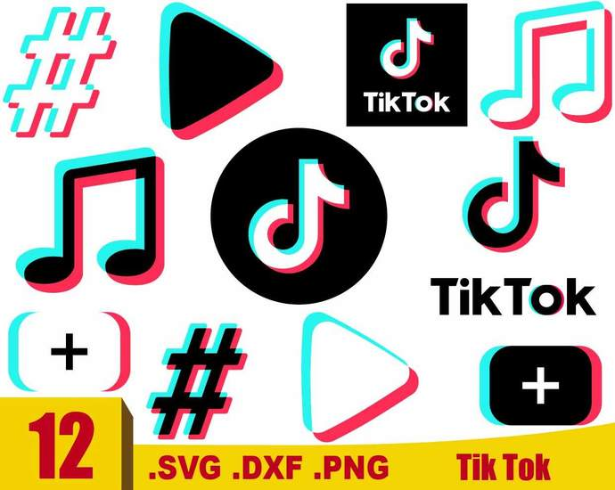 Tik Tok Svg Tik Tok Logo Tik Tok Cut File By Rhinodigital On
