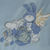 Blue Fleece Baby Blanket With Embroidered Flying Bunny Rabbit – Free Shipping