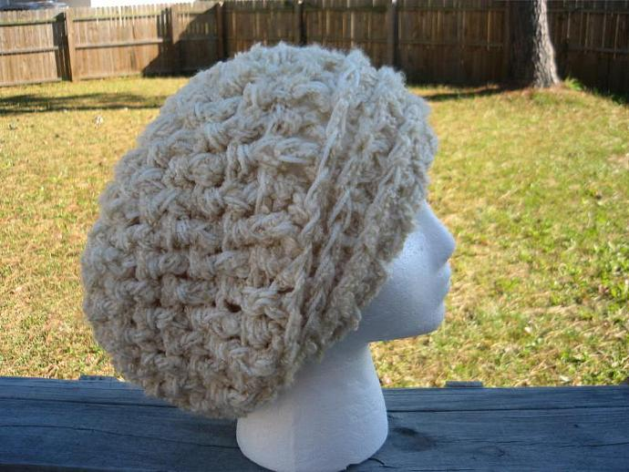 Adult Uber Wafflestitch Slouchy Beanie- Heather Grey or other colors available