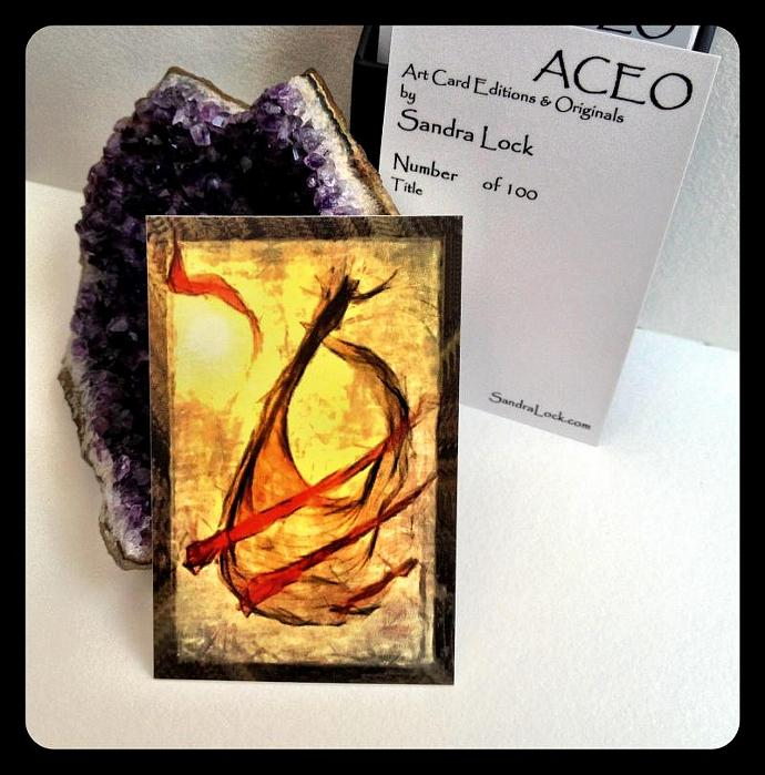ACEO limited edition - 'Wind music.'