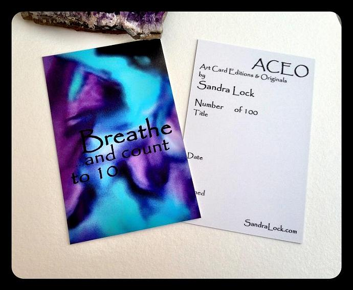 ACEO limited edition - 'Breathe.'