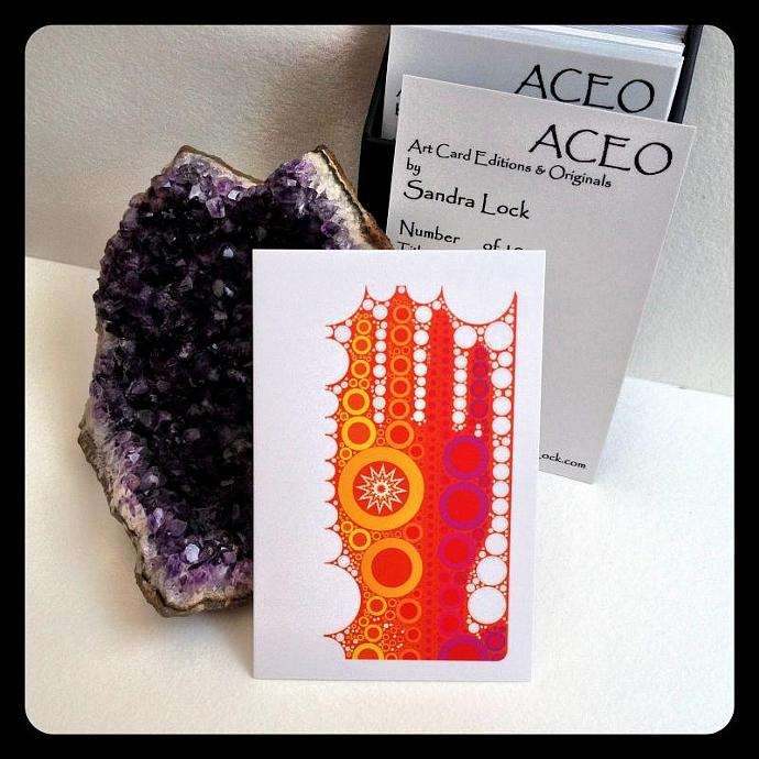 ACEO limited edition - 'Groovy hand.'