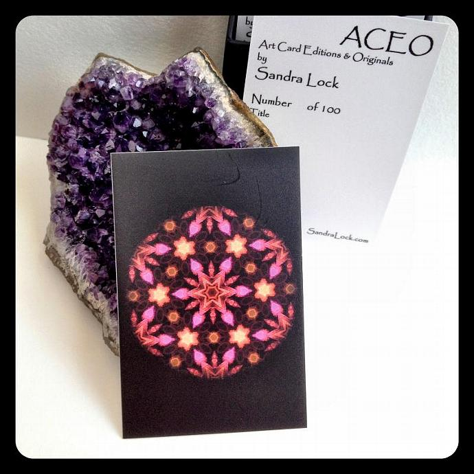 ACEO limited edition - 'Pink Love.' Mandala
