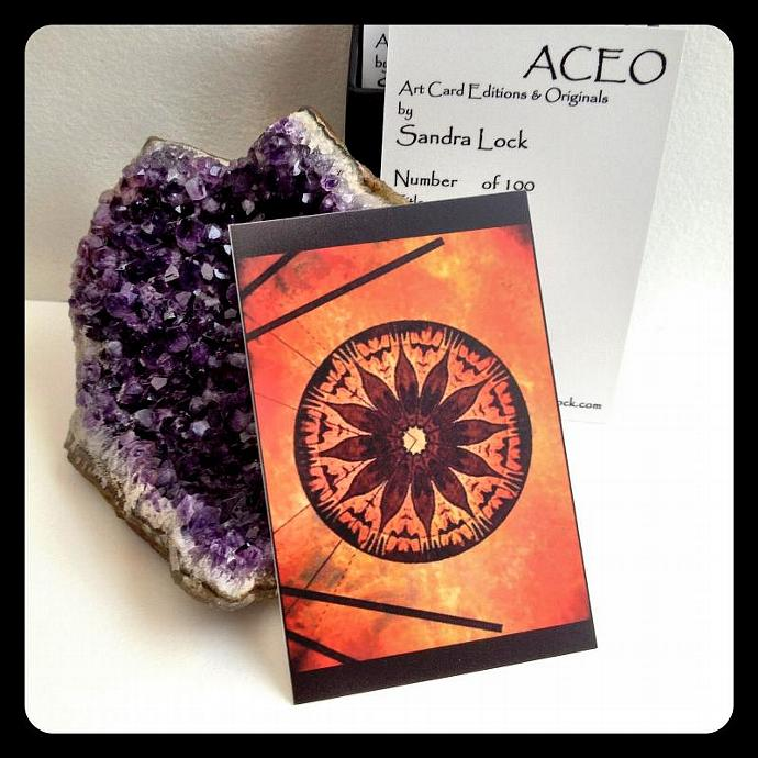 ACEO limited edition - 'Search for peace.' mandala