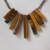 Handmade Tigereye and Gunmetal Jewelry Set