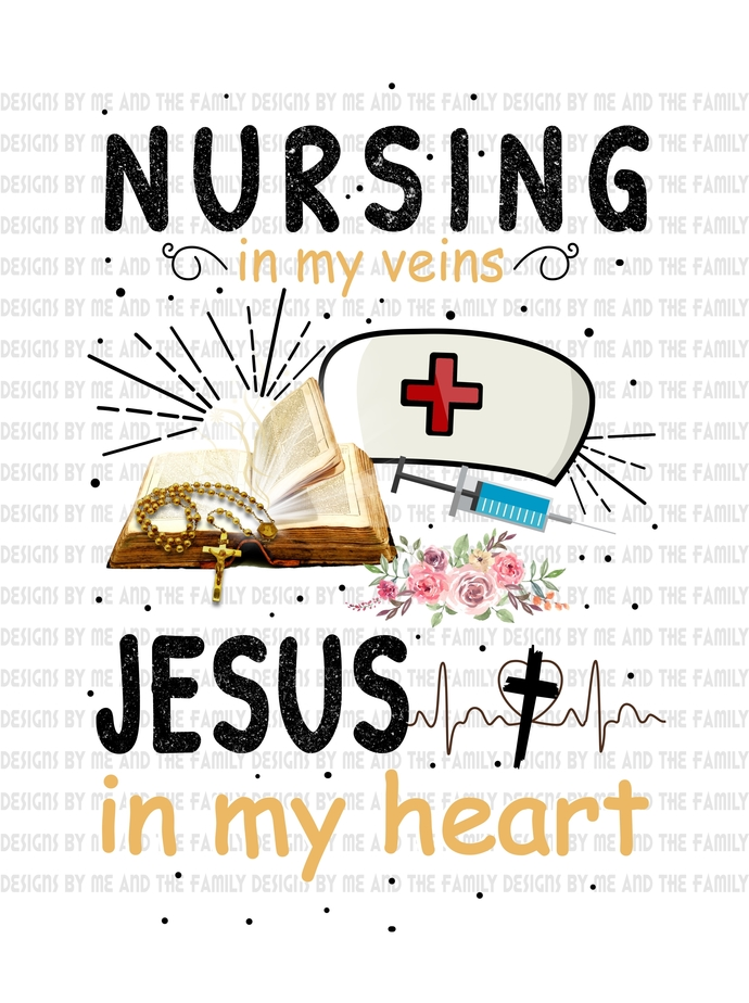 Nursing in my veins Jesus in my heart, black text, Way maker, Ester 4:14,