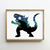 Monster silhouette counted cross stitch pattern- Cross Stitch Pattern (Digital