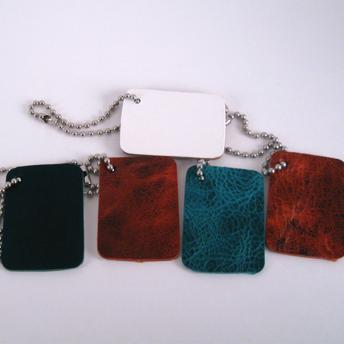 Handmade Leather Tag Set