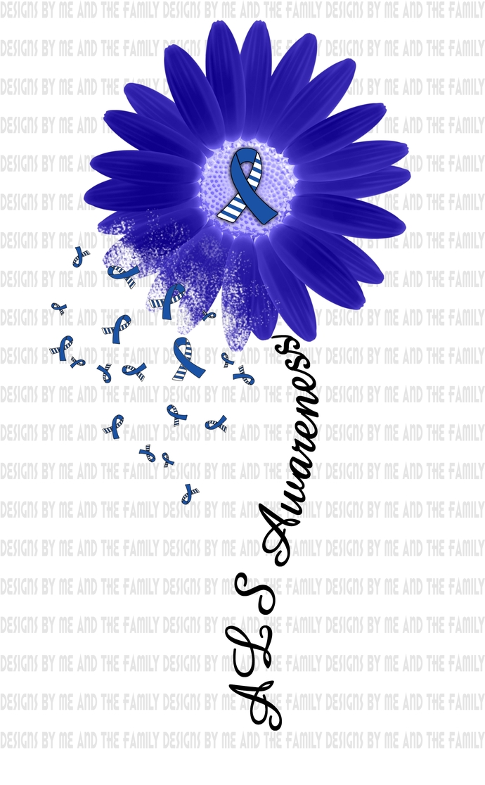 ALS awareness sunflowe, Hope for a cure, His fight is my fight, warrior faith