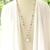 Long boho beach wedding necklace, pink flamingo art art pendant with pink jade