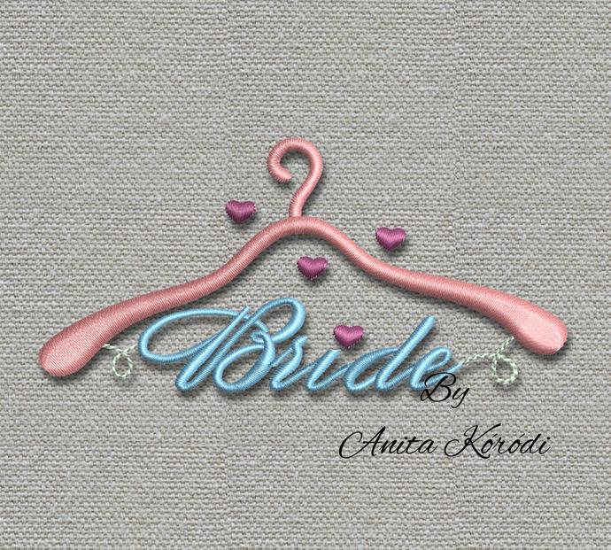 Embroidery Design bride Pattern Instant Digital Download Pes hanger