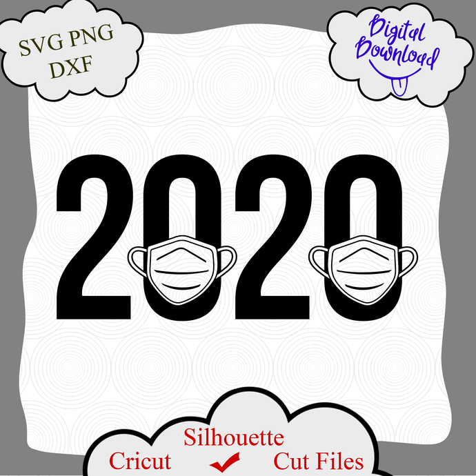 2020 Svg Quarantine Svg Medical Mask Svg By Digital4u On Zibbet