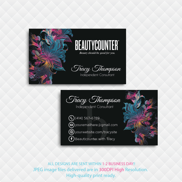 Beautycounter Business Card, Business Card, Personalized Beautycounter Business